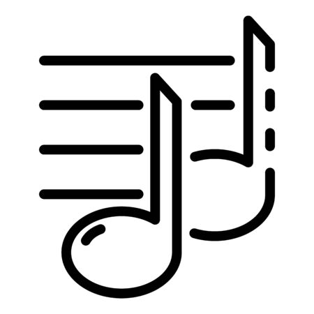 Musical staff icon, outline style