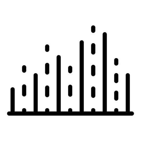 Dots and lines columns icon, outline style