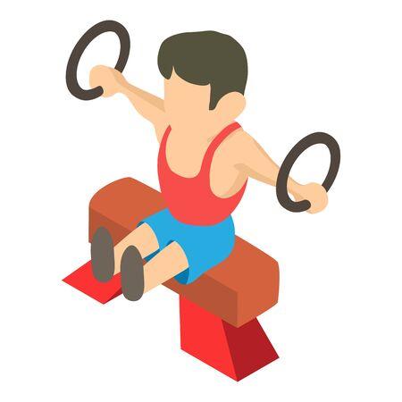 Man gymnast icon, isometric style