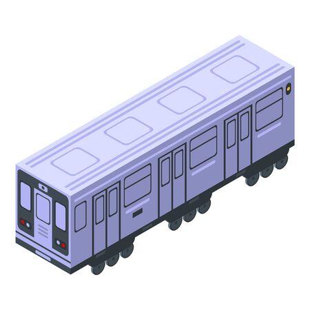 Metro wagon icon, isometric style Stock Illustratie