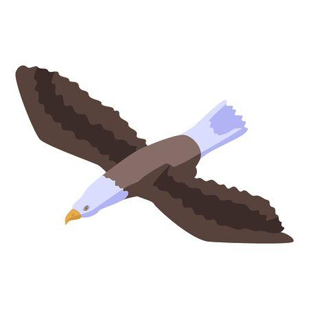 Falcon eagle icon, isometric style Vectores