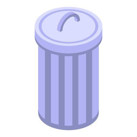 Garbage bin icon, isometric style Иллюстрация