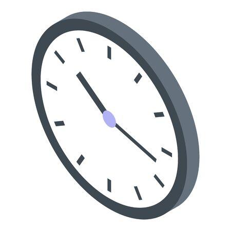 Housekeeping wall clock icon, isometric style Ilustração