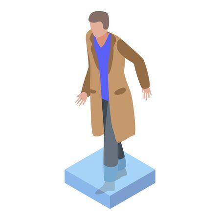 Man jacket flood icon, isometric style Иллюстрация