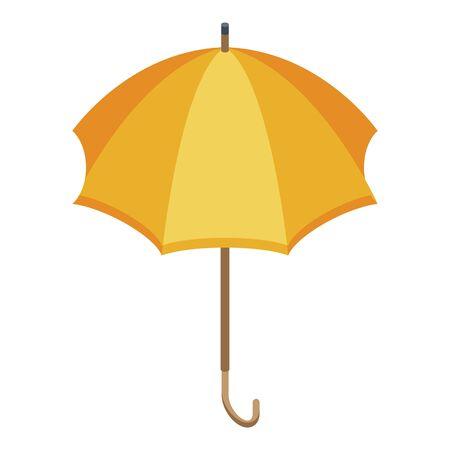 Yellow umbrella icon, isometric style