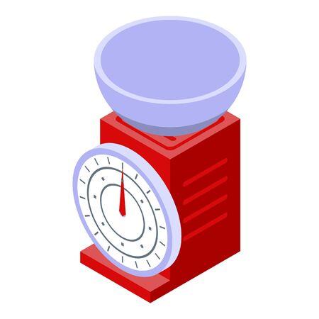 Retro scales icon, isometric style