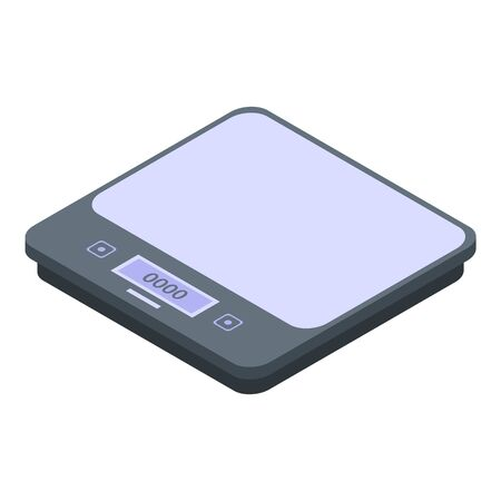 Home weigh scales icon, isometric style Vektorové ilustrace
