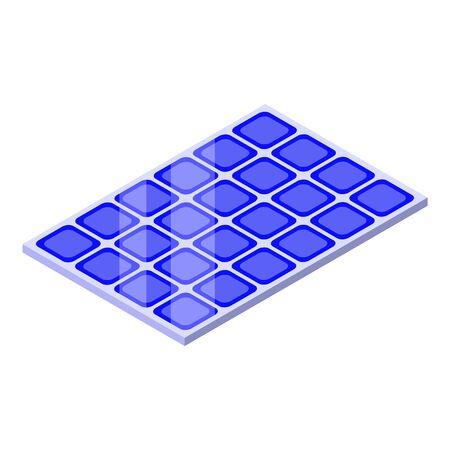 Solar panel icon, isometric style