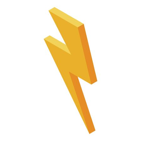 Electricity danger icon, isometric style