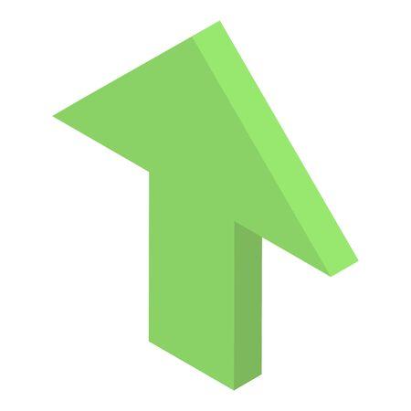 Arrow up icon, isometric style
