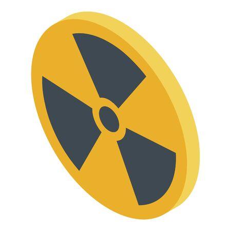 Danger zone icon, isometric style