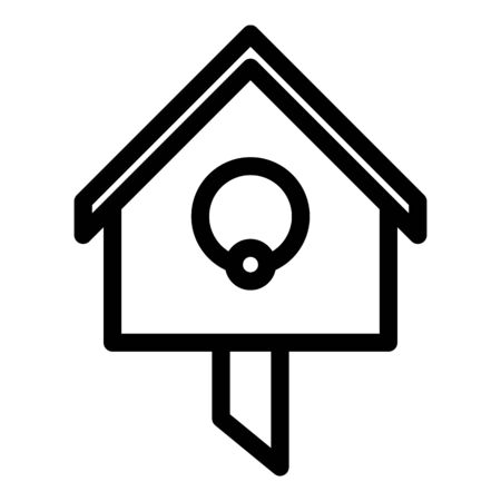 Park bird house icon. Outline park bird house vector icon for web design isolated on white background