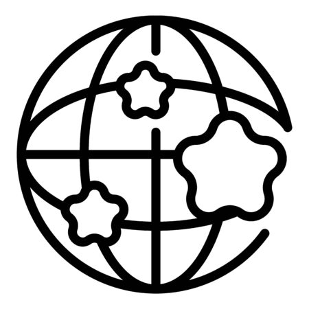 Global sociology icon. Outline global sociology vector icon for web design isolated on white background