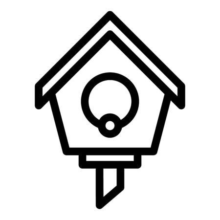 Tree round bird house icon. Outline tree round bird house vector icon for web design isolated on white background
