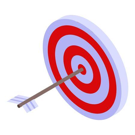 Arrow target icon, isometric style