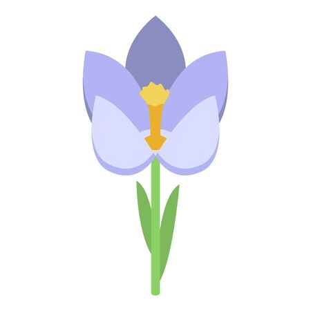 Blossom crocus icon. Isometric of blossom crocus vector icon for web design isolated on white background Illustration