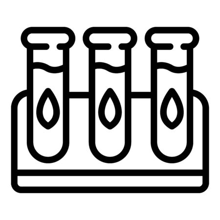 Eco test tubes icon, outline style