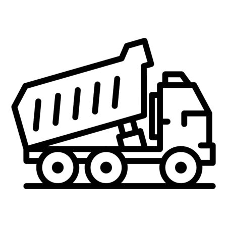 Lorry tipper icon, outline style Иллюстрация