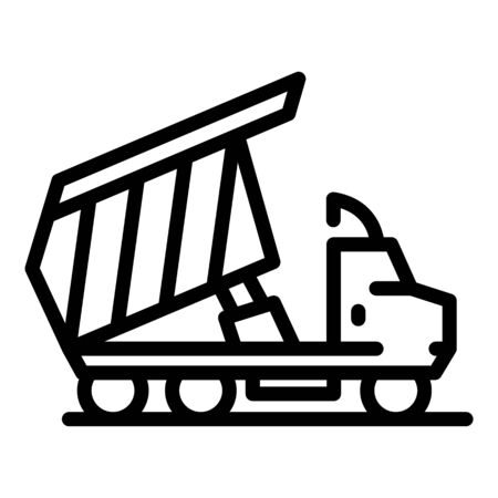 Building tipper icon, outline style
