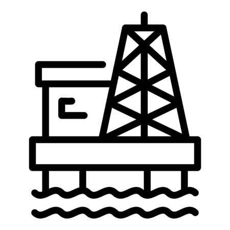 Sea petrol extract icon, outline style Çizim