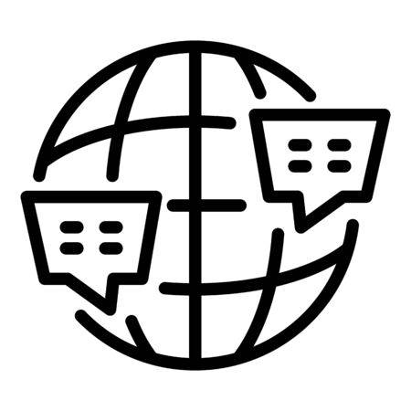 Global foreign language icon, outline style Ilustrace