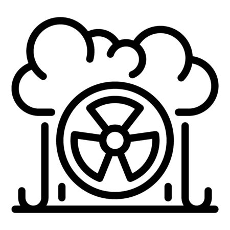 Bio nuclear cloud icon, outline style