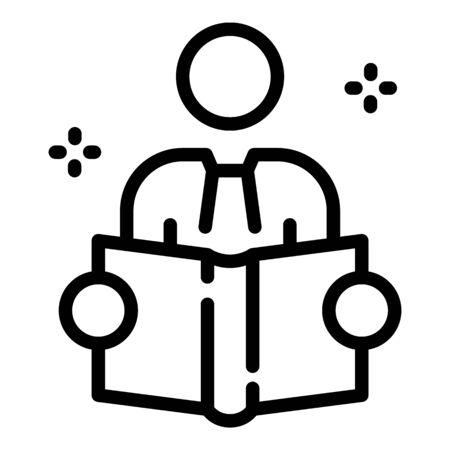 Foreign language teacher icon, outline style Ilustrace