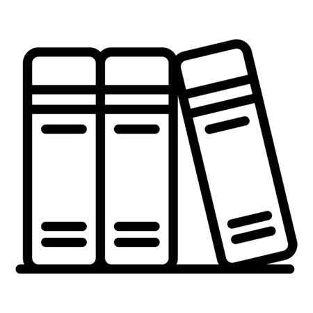 Foreign language books icon, outline style