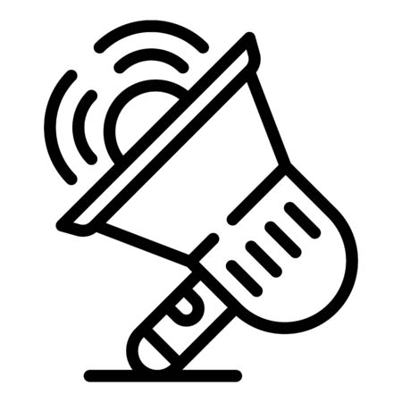 Teacher megaphone icon, outline style Illusztráció