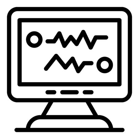 Online foreign language teacher icon, outline style