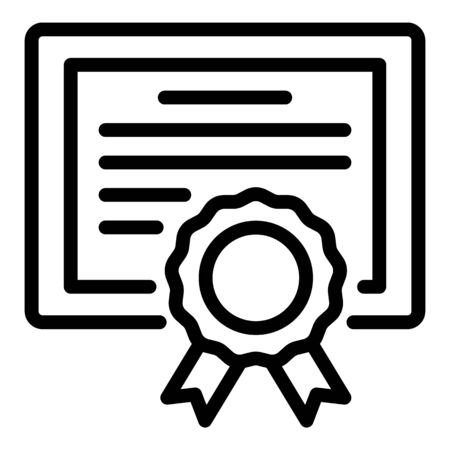 Foreign language diploma icon, outline style