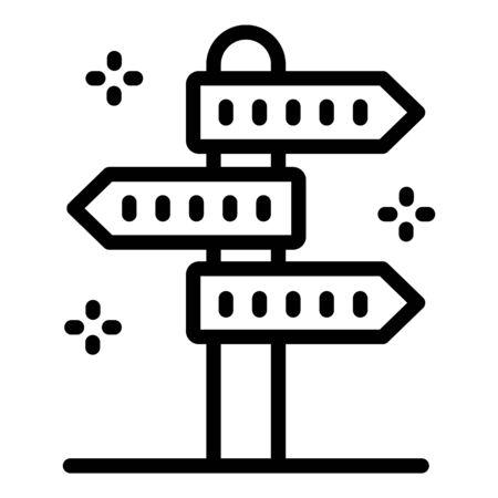 Foreign language pillar icon, outline style Ilustrace