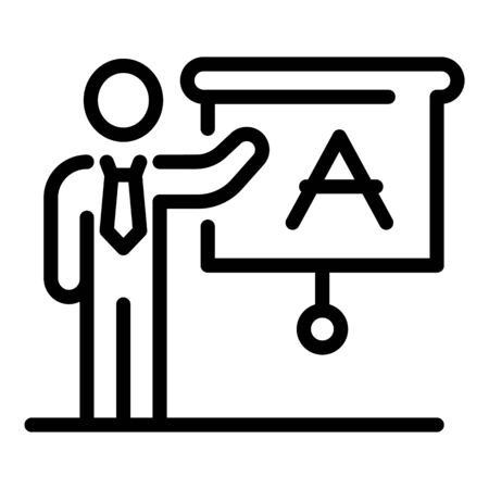 Foreign language school teacher icon, outline style