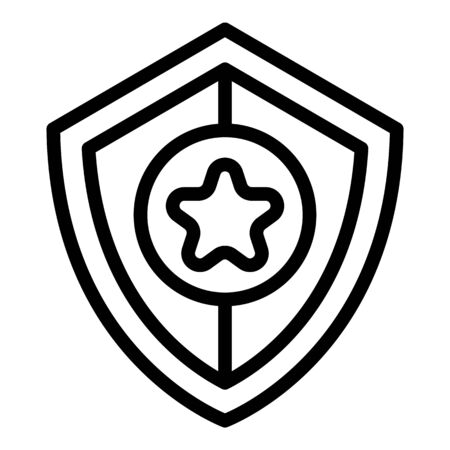 Investigator shield icon, outline style