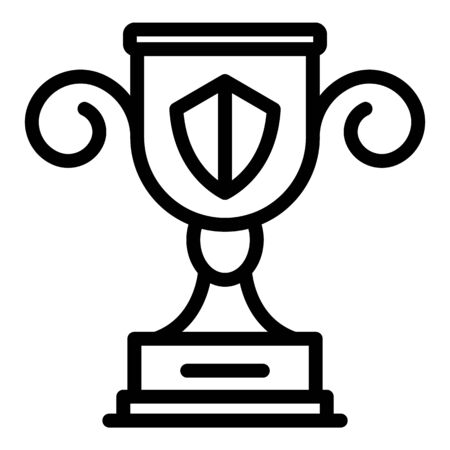 Dog handler cup icon, outline style