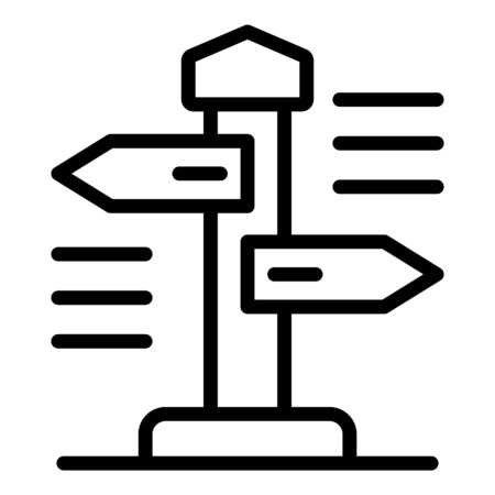 Eco wood direction pillar icon, outline style