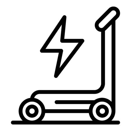 Electric scooter icon, outline style