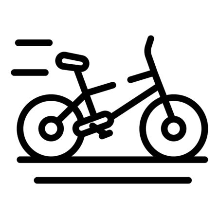Eco electric bike icon, outline style