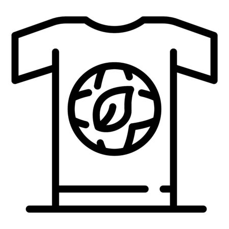 Ecologist tshirt icon, outline style