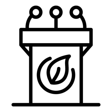 City recycle bin icon, outline style