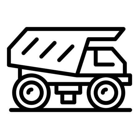 Big tipper icon, outline style