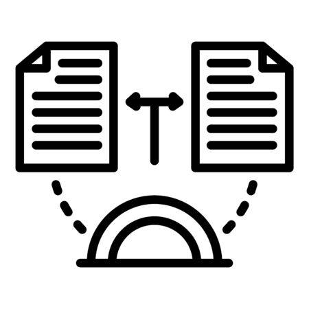Change estimator papers icon, outline style