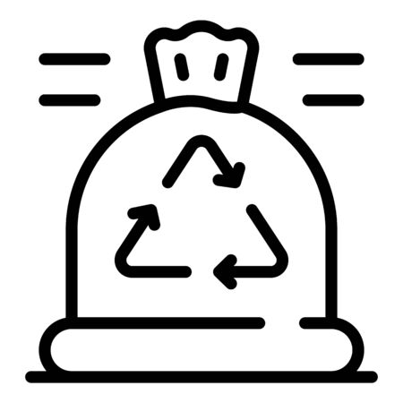 Ecologist bag icon, outline style Illustration