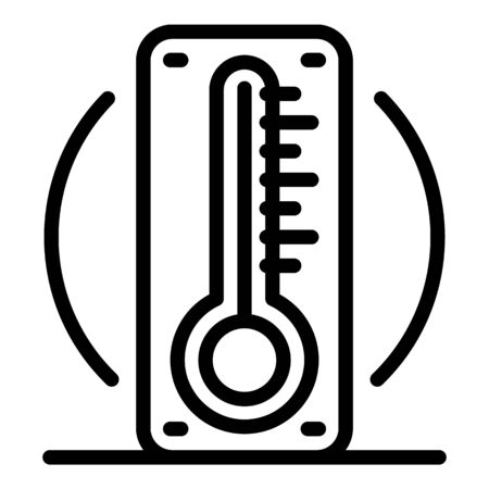 Outdoor thermometer icon, outline style