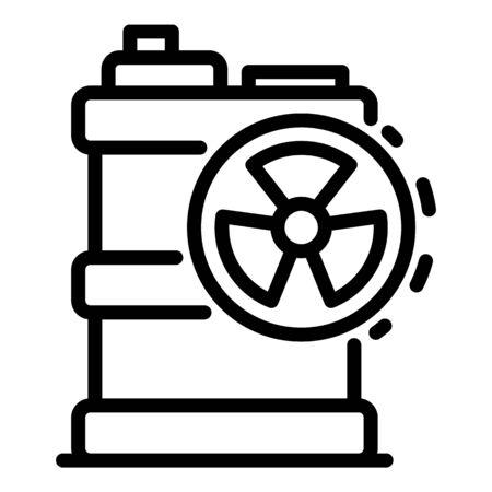 Radiation barrel icon, outline style Illusztráció