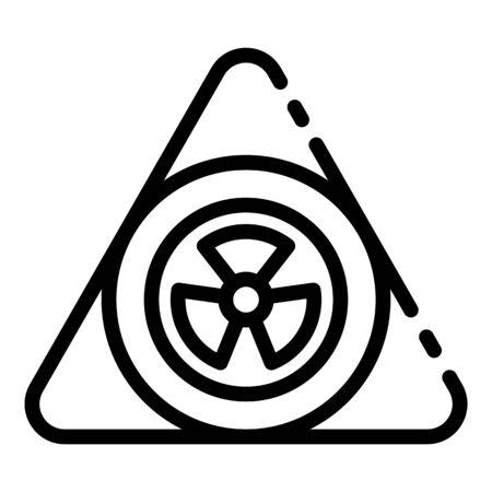 Nuclear triangle icon, outline style Illusztráció