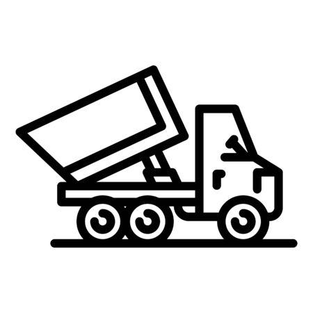 Commercial tipper icon, outline style