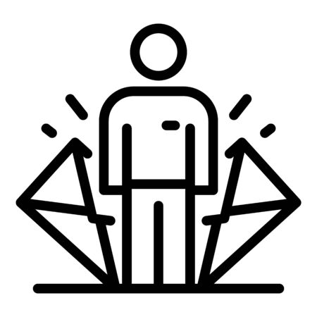 Diamond estimator icon, outline style