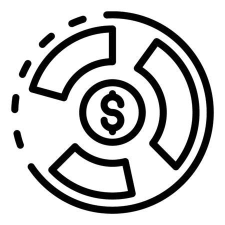 Estimator icon, outline style