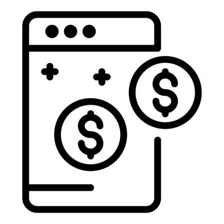 Web estimator icon, outline style